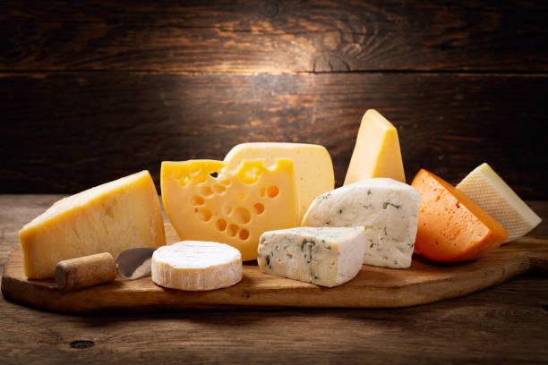 vari tipi di formaggio - maasdam foto e immagini stock