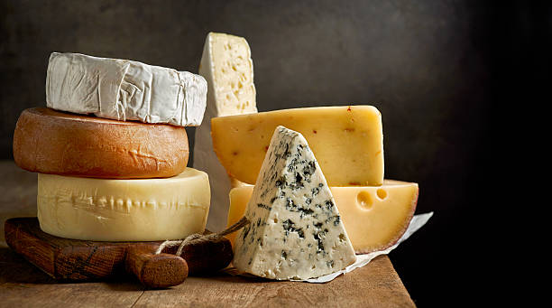 various types of cheese stock photo