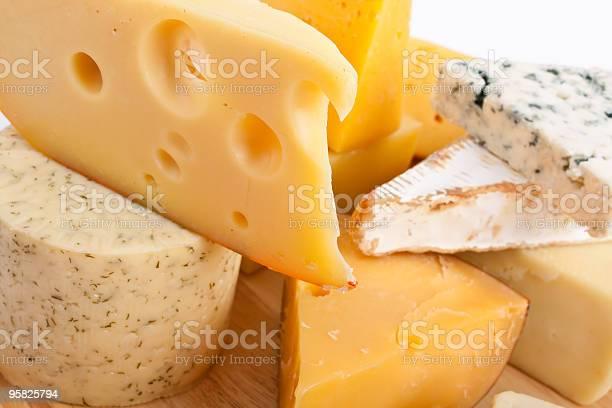 Различные Виды Сыра — стоковые фотографии и другие картинки Без людей