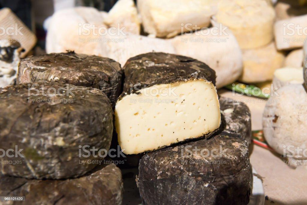 Various types of cheese zbiór zdjęć royalty-free