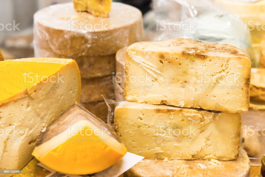 Various types of cheese zbiór zdjęć royalty-free