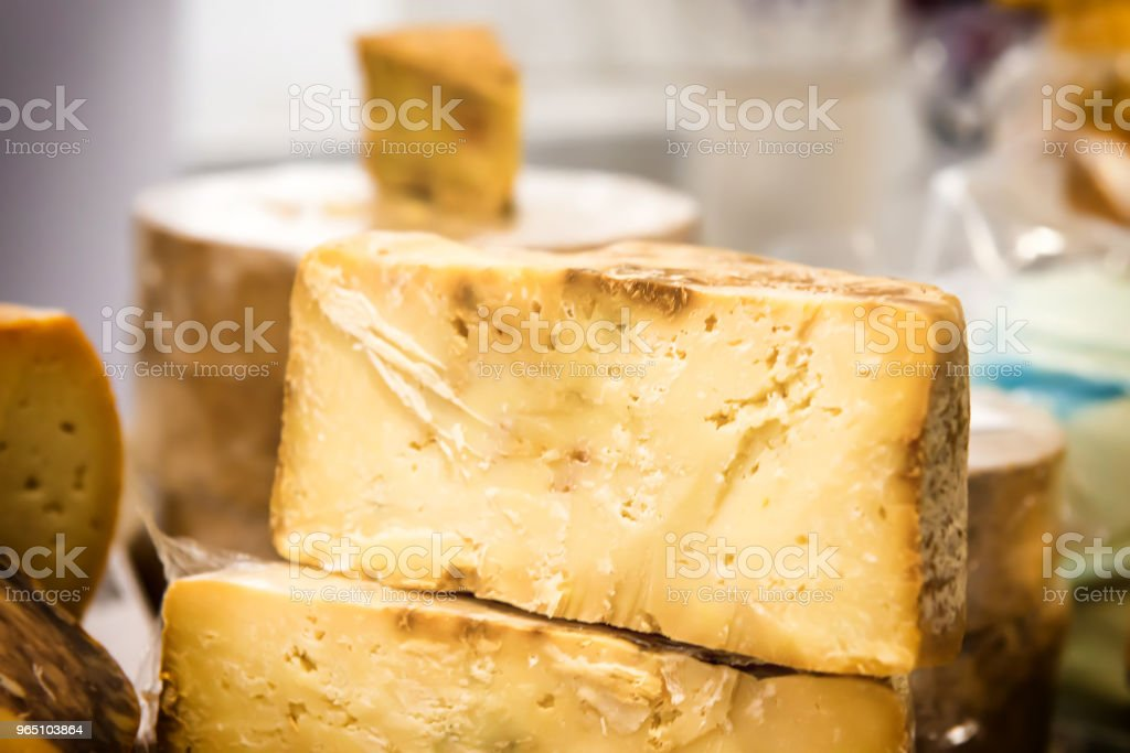 Various types of cheese royalty-free stock photo