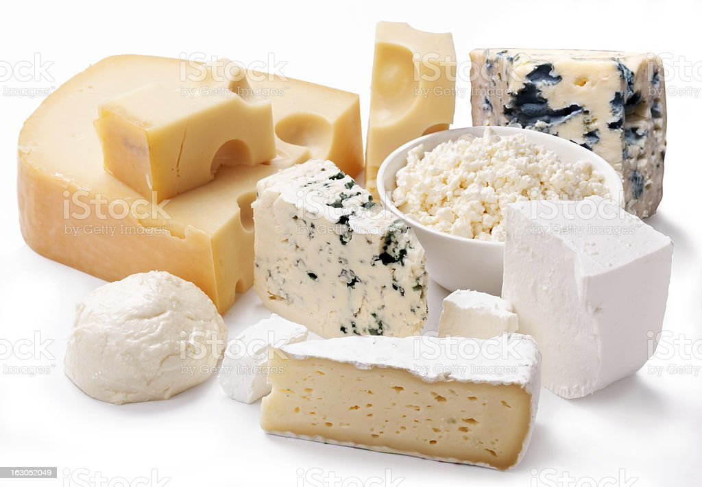 Various types of cheeses. royalty-free stock photo