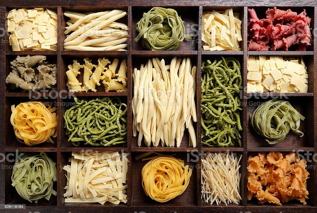 Various types of pasta. stock photo