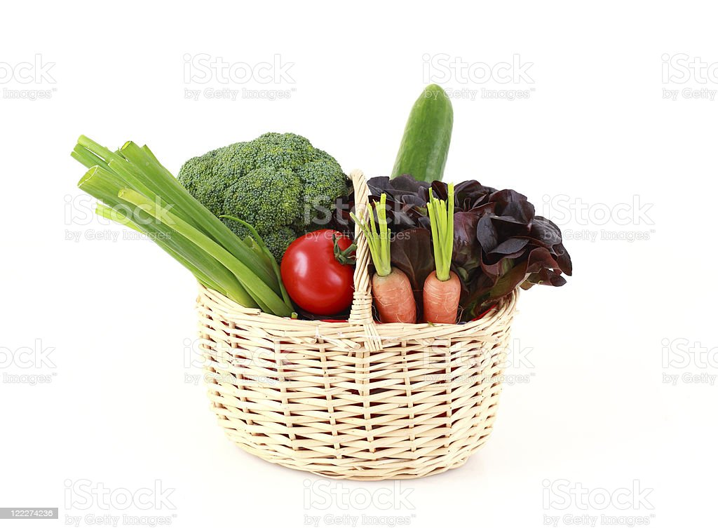 Various vegetables and fruits royalty-free stock photo