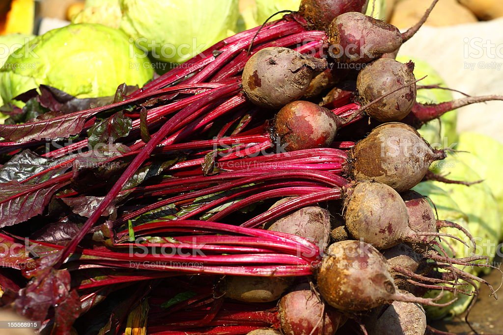 Various vegetables at vegetable market. India royalty-free stock photo