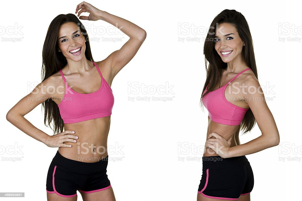 Various views of a fit woman royalty-free stock photo