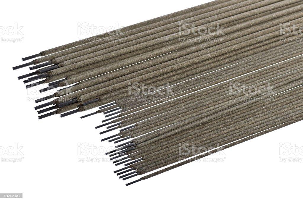 various welding electrodes stock photo