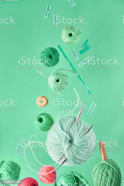 Various wool yarn and knitting needles creative knitting hobby on picture id1175271751?b=1&k=6&m=1175271751&s=612x612&h=2n6lc9hwpx1np op4cekkj4oercr bbpiabzng6cgks=