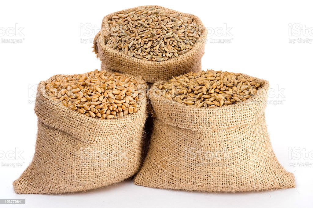 Variuos cereal grain royalty-free stock photo