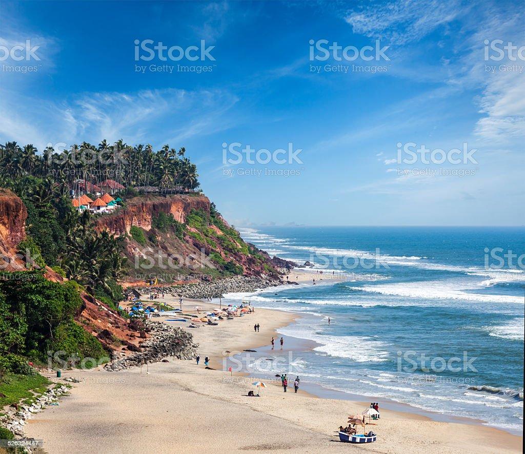 Varkala beach, Kerala, India stock photo