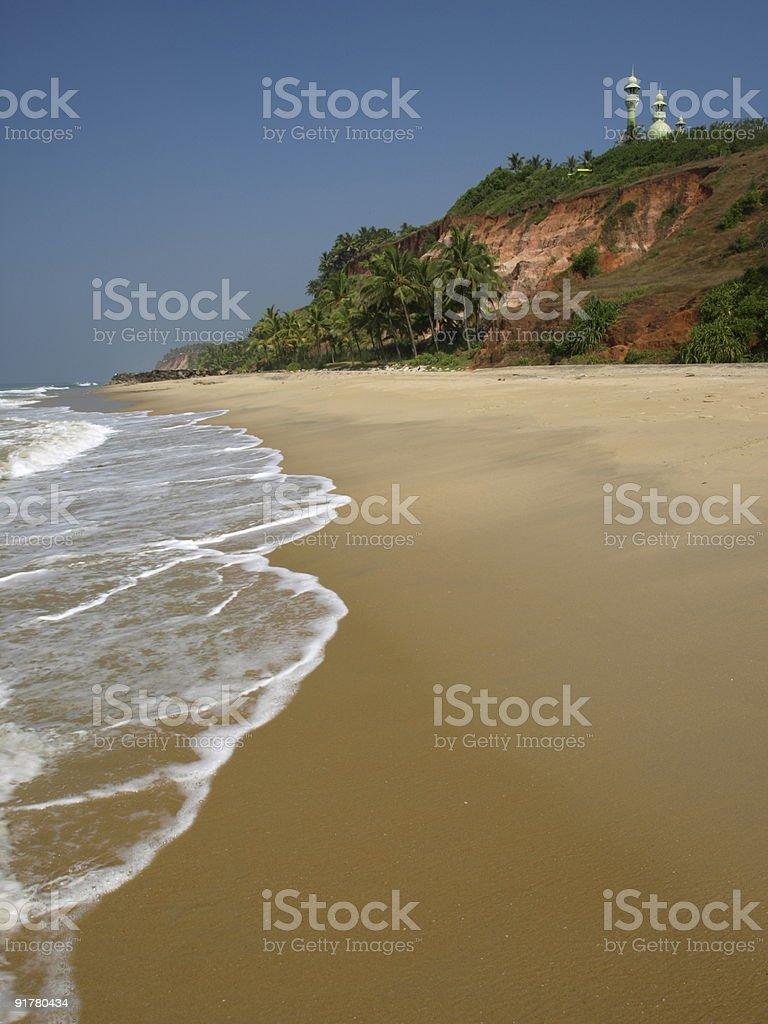 Varkala beach,Kerala,India. stock photo
