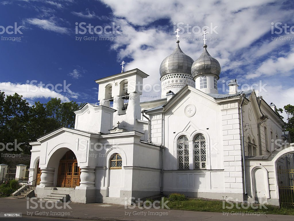 Varlaam Church in Pskov royalty-free stock photo