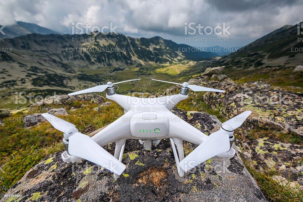 Varna, Bulgaria - August 6 ,2016: Drone quadcopter Dji Phantom stock photo