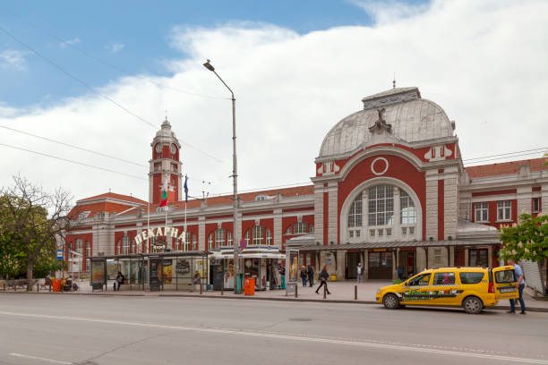 Varna railway station stock photo