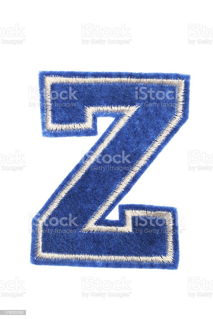 Varsity college letter Z royalty-free stock photo