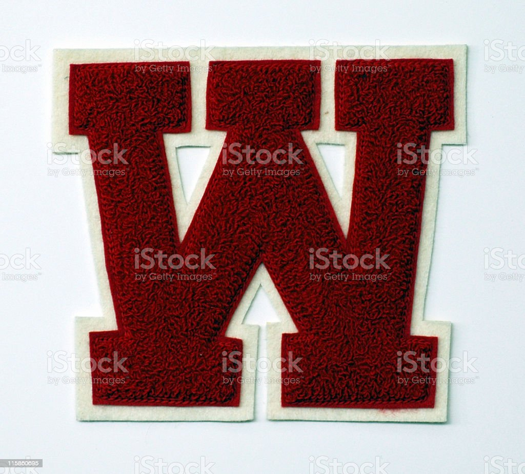 varsity letter W royalty-free stock photo