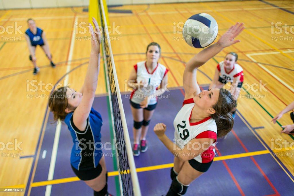 Varsity Volleyball stock photo