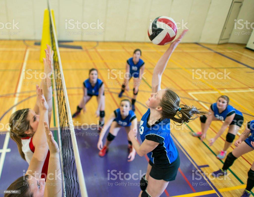 Volley-ball universitaire photo libre de droits