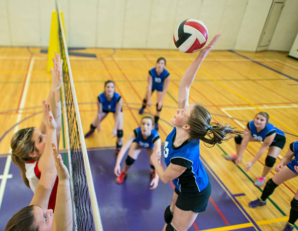 varsity volleyball - volleyball sport stock photos and pictures