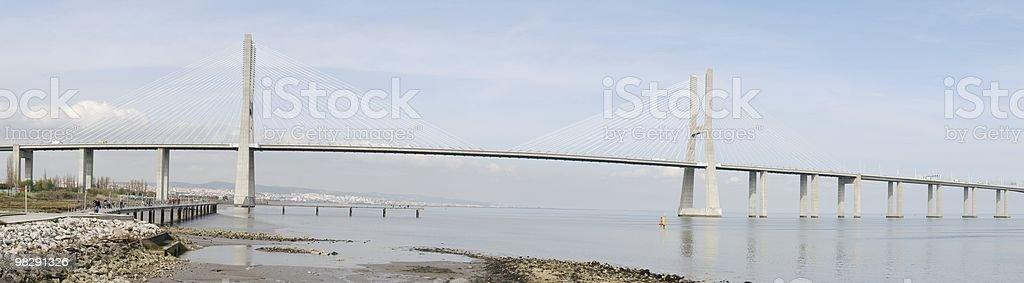 Vasco da Gama bridge in Lisbon, Portugal royalty-free stock photo