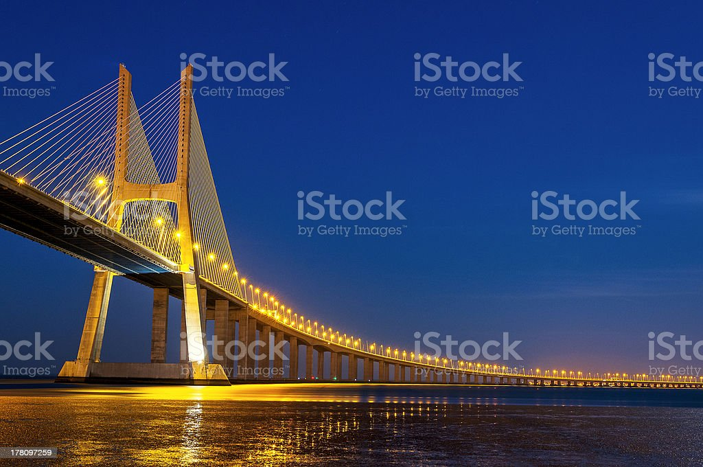 Vasco da Gama bridge, Lisbon, Portugal royalty-free stock photo