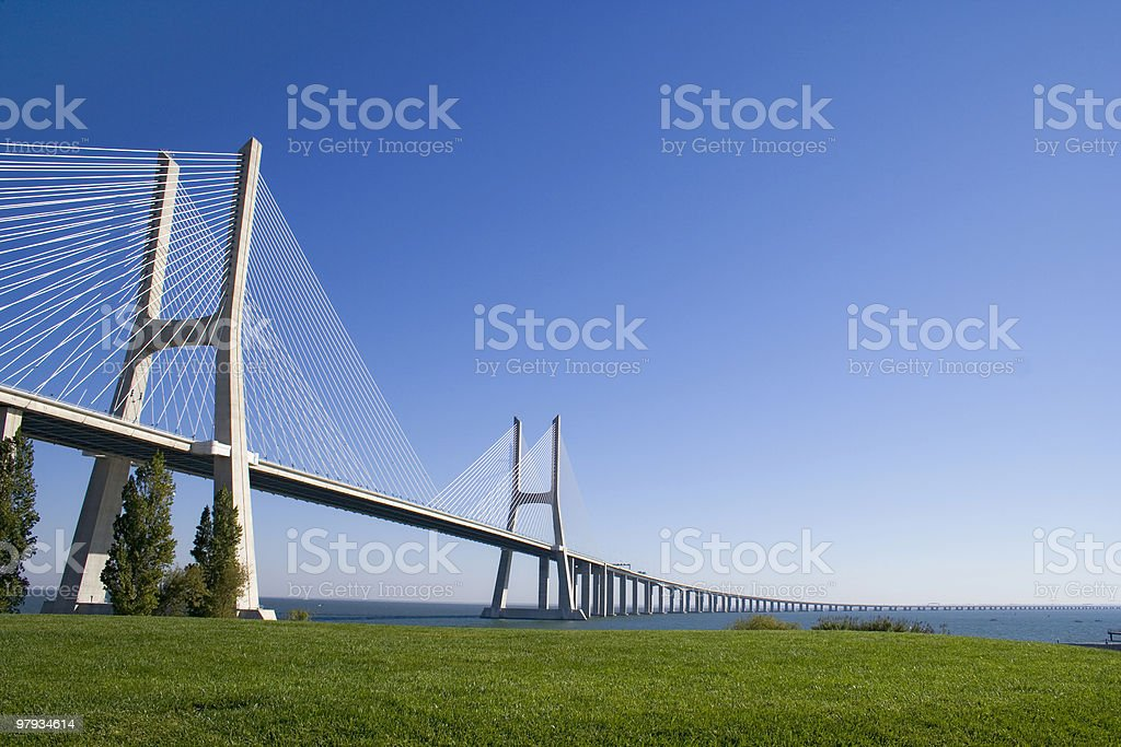 Vasco da Gama bridge royalty-free stock photo