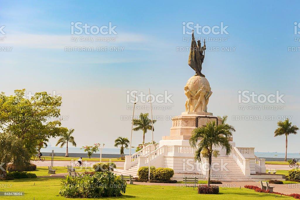 Vasco Nunez de Balboa Monument. Panama City, Republic of Panama, stock photo
