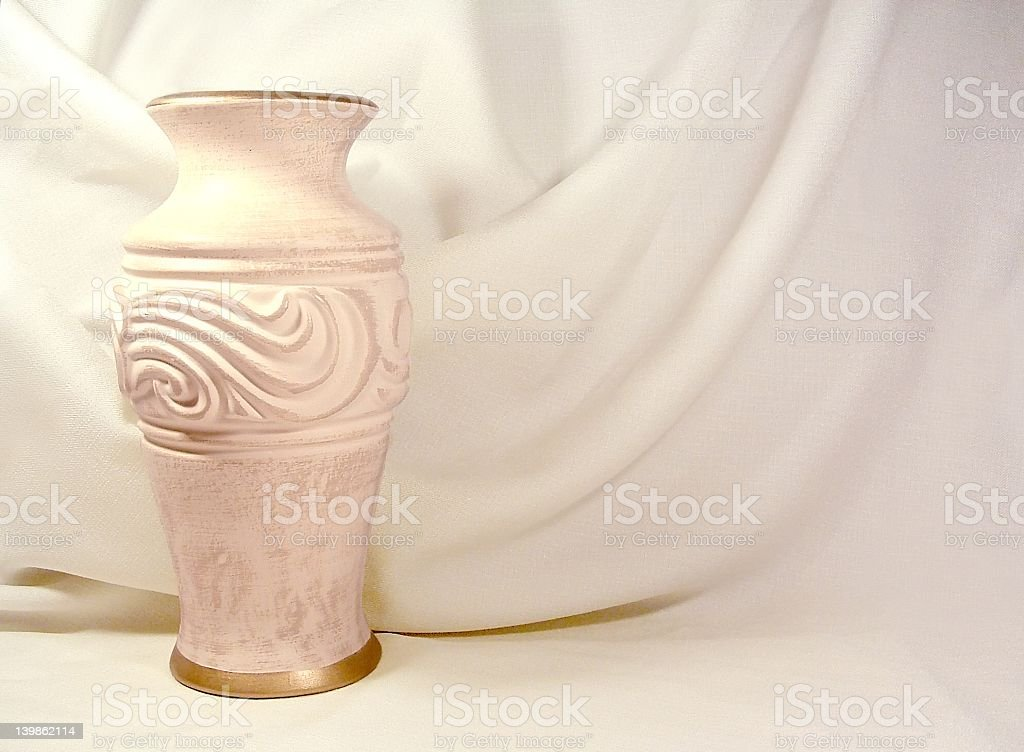 Vase and Fabric stock photo