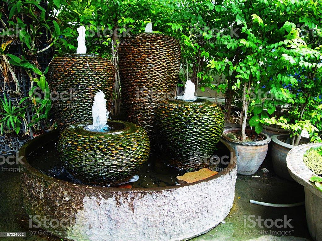 Vase fountains stock photo