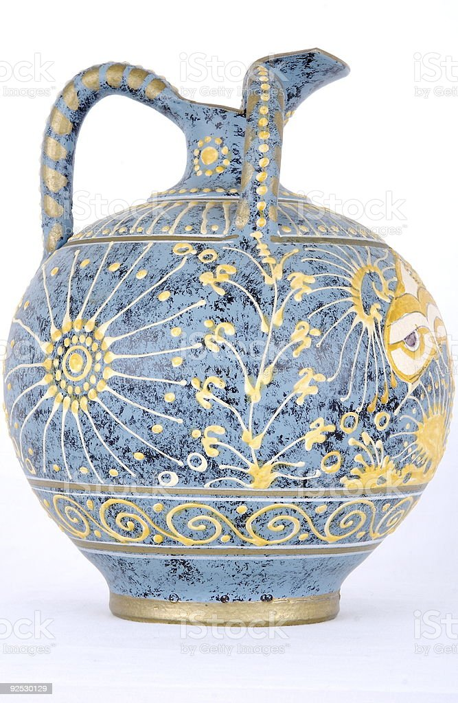 Vase from Crete Front Side royalty-free stock photo