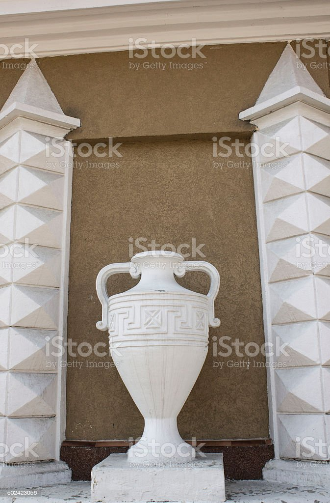 Vase in the Greek style stock photo