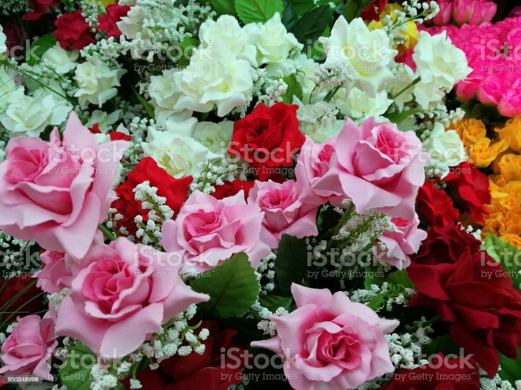Vase of pastel roses bouquet on white background set of beautiful vase of pastel roses bouquet on white background set of beautiful flower love and izmirmasajfo