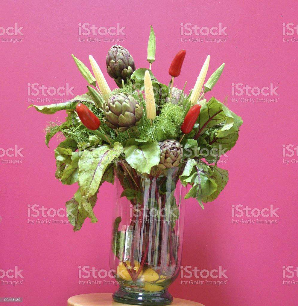 Vase of Veggies royalty-free stock photo