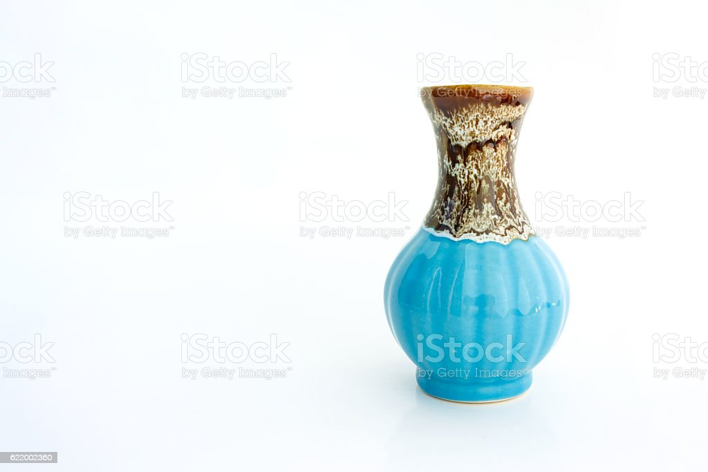 vase on white background stock photo