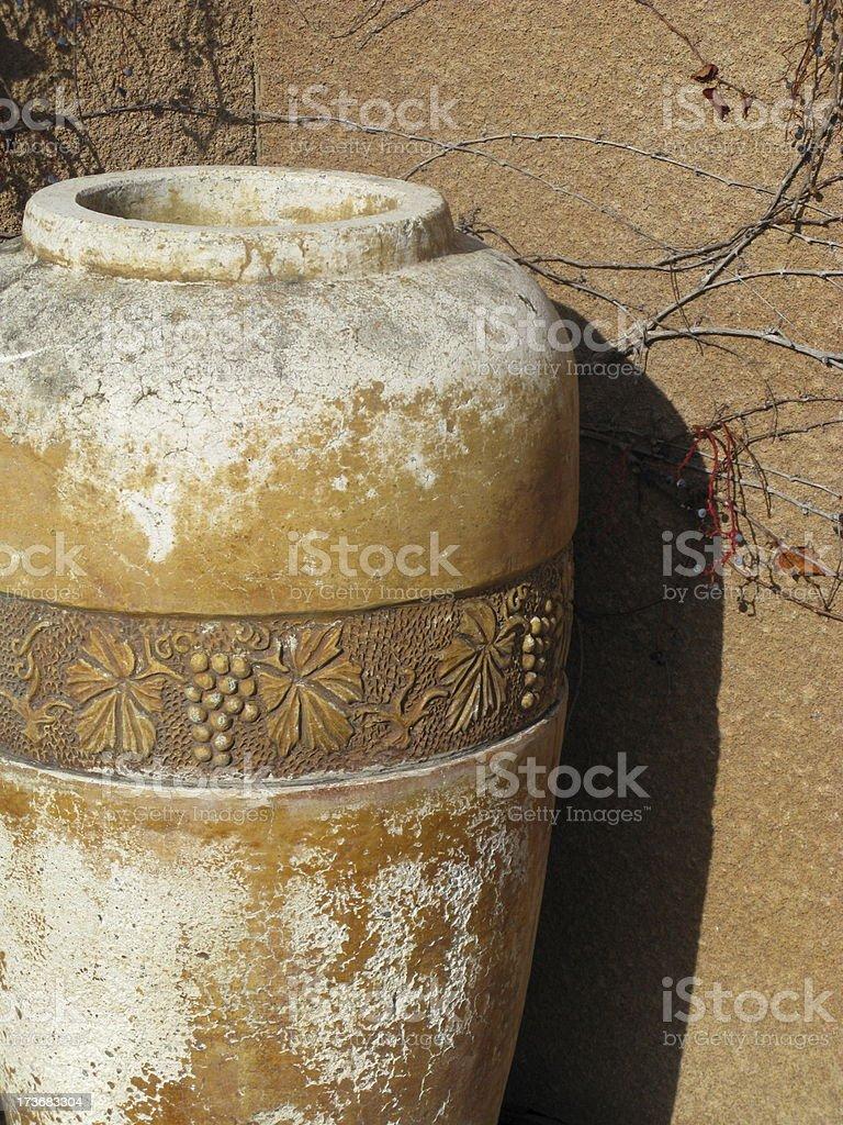 Vase Terracotta Weathered Vintage Antique royalty-free stock photo