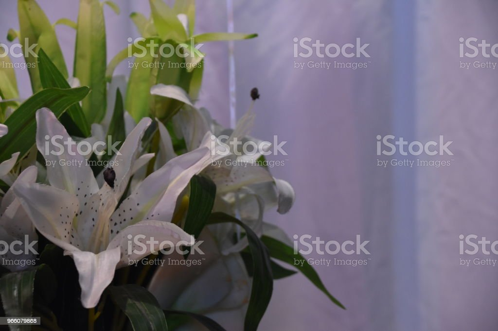 Eine Vase mit Blumen bei der Hochzeit - Lizenzfrei Altertümlich Stock-Foto