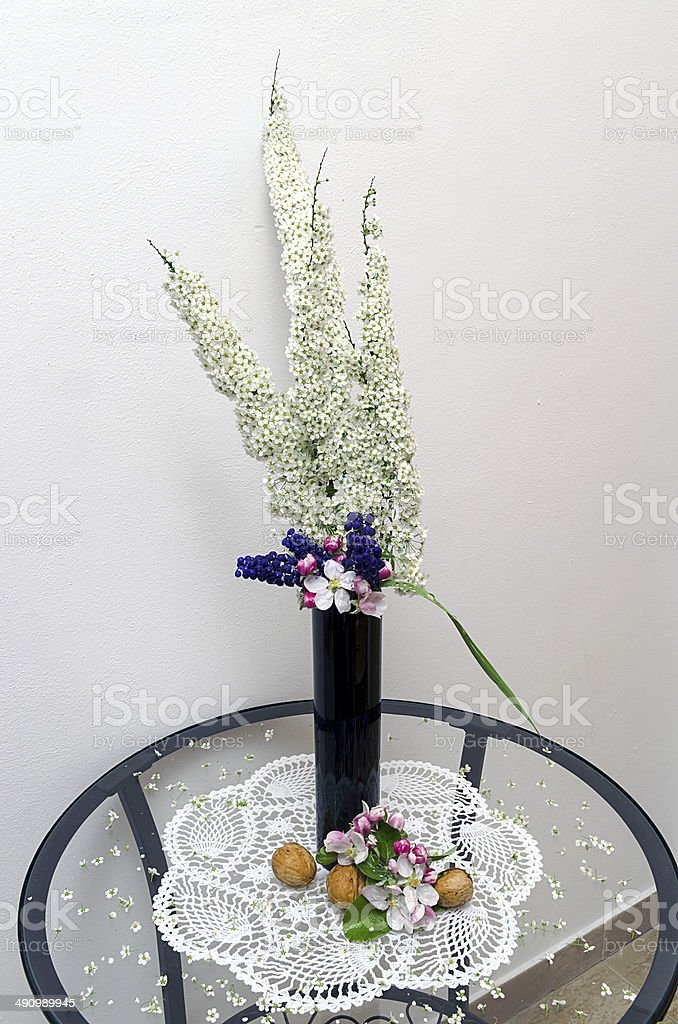 Vase With Flowers Stock Photo More Pictures Of Backgrounds Istock
