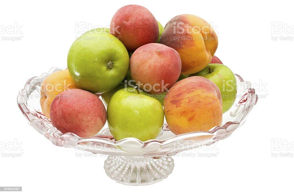 Vase with fruits royalty-free stock photo