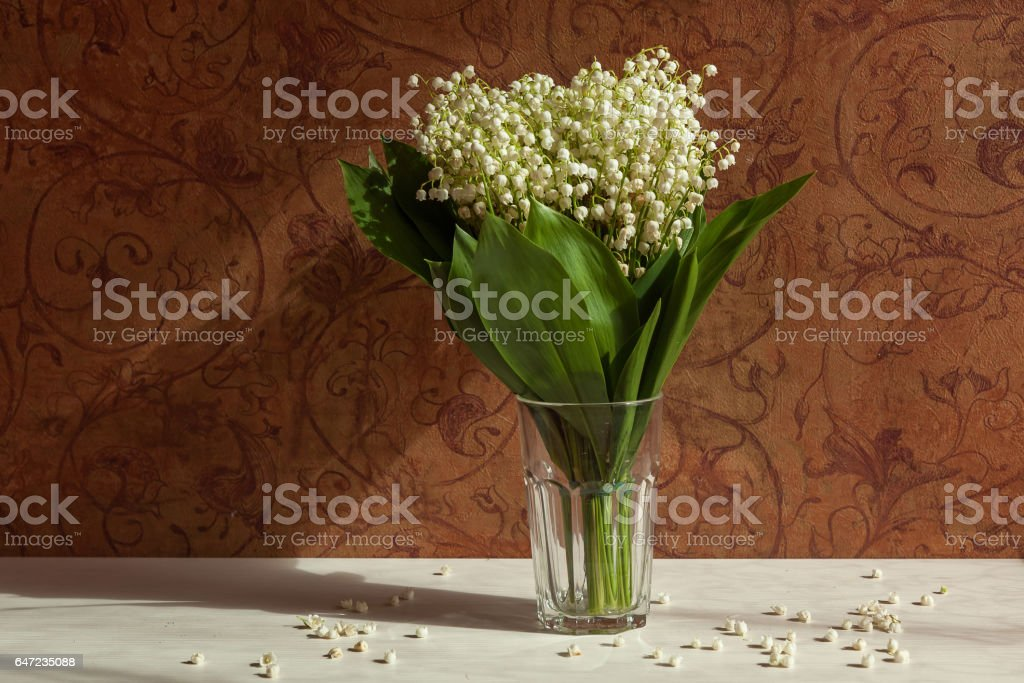 Vase With Lilies Of The Valley Stock Photo Download Image Now Istock