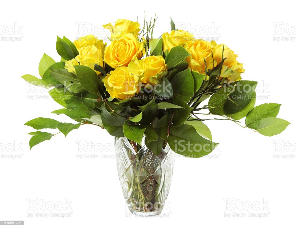 Vase with roses stock photo