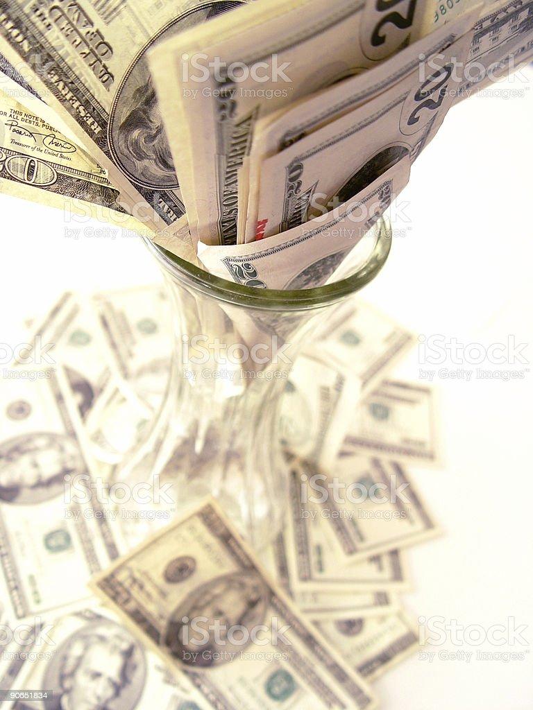 Vaseful of cash 2: The Revenge royalty-free stock photo