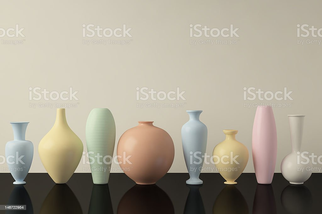 Vases in a row royalty-free stock photo
