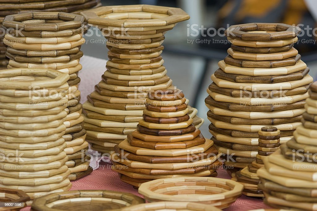 vases of osier royalty-free stock photo