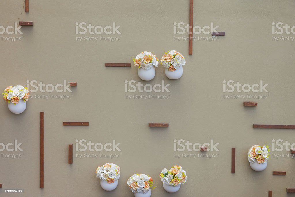 vases on the wall royalty-free stock photo