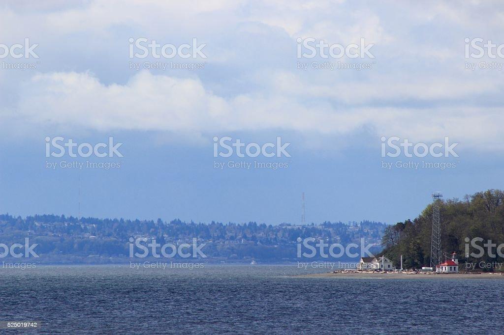 Vashon Island seen from Seattle. royalty-free stock photo