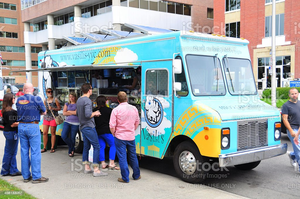 Vasili's food truck stock photo