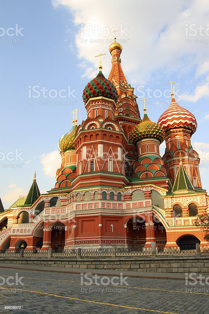 Vasiliy Blazhenniy church in Moscow royalty-free stock photo