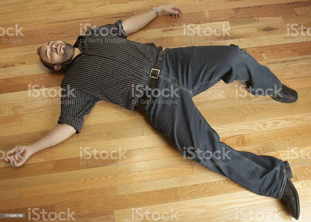 Vasko istock photographer knocked out by model royalty-free stock photo