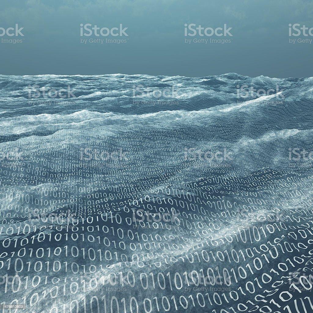 Vast binary code Sea royalty-free stock photo